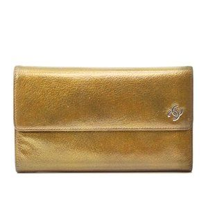Auth Chanel Coco Mark Wallet Leather #3410C60